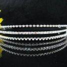 Triple Bride Hair accessories ;Elegance Bridal Tiara;Silver Rhinestone Floral Wedding Headband#558s