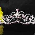 Fancy Bride Hair accessories;Filigree Bridal Tiara;Silver Rhinestone Wedding Headband#11LP