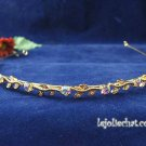 Fancy Golden Rhinestone Alloy Wedding Headband;Bride Hair accessories;Fancy Bridal Tiara#535g