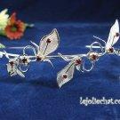 Silver Rhinestone Twin Vine Alloy Wedding Headband;Bride Hair accessories;Fancy Bridal Tiara#1797r