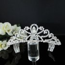 Rhinestone Wedding Tiara;Bride Hair accessories;Fancy Silver Crystal Bridal Tiara#574