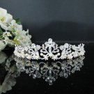 Rhinestone Wedding Tiara;Bride Hair accessories;Fancy Silver Crystal Bridal Tiara#866