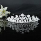 Fancy Silver Crystal Bridal Tiara;Rhinestone Wedding Tiara;Bride Hair accessories#1882