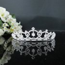 Fancy Silver Crystal Bridal Tiara;Rhinestone Wedding Tiara;Bride Hair accessories#1918