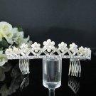 Fancy Silver Crystal Bridal Tiara;Rhinestone Wedding Tiara;Bride Hair accessories#1025
