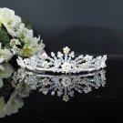 Fancy Silver Crystal Bridal Tiara;Rhinestone Wedding Tiara;Bride Hair accessories#1060