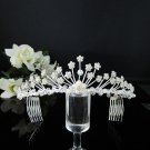 Fancy Silver Crystal Bridal Tiara;Rhinestone Wedding Tiara;Bride Hair accessories#1133