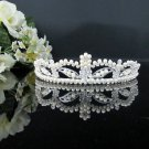 Rhinestone Wedding Tiara;Fancy Silver Crystal Bridal Tiara;Bride Hair accessories#1173