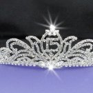 15 or 16 Birthday Tiara;Silver Sweetheart Crystal Occasion Tiara;Fashion Hair accessories#7377