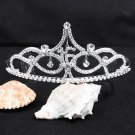 Huge 15 or 16 Birthday Tiara;Silver Sweetheart Crystal Occasion Tiara;Fashion Hair accessories#8376