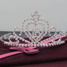 Silver Sweetheart Crystal Occasion Tiara;Huge 15 or 16 Birthday Tiara;Fashion Hair accessories#8977