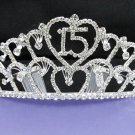 Silver Sweetheart Crystal Occasion Tiara;Huge 15 or 16 Birthday Tiara;Fashion Hair accessories#9800