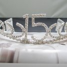 Fancy Silver Crystal Occasion Tiara; Delicate 15 or 16 Birthday Tiara;Fashion Hair accessories#10523