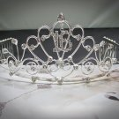 Silver Crystal Occasion Tiara;Delicate 15 or 16 Birthday Tiara;Fancy Fashion Hair accessories#10159