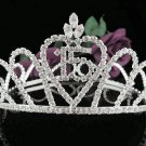 Silver Crystal Occasion Tiara;Delicate 15 or 16 Birthday Tiara;Fancy Fashion Hair accessories#1060