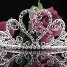 Silver Crystal Occasion Tiara;Huge 15 or 16 Birthday Tiara;Fancy Fashion Hair accessories#1051pu