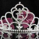 Silver Crystal Occasion Tiara;Huge 15 Birthday Tiara;Fancy Fashion Hair accessories#1049