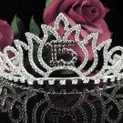 Silver Crystal Occasion Tiara; 15 Birthday Tiara;Fancy Fashion Hair accessories#1047r