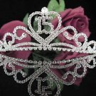 Silver Crystal Occasion Tiara; 15 Birthday Tiara;Fancy Fashion Hair accessories#1046