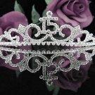 Cute 15 Birthday Tiara;Silver Crystal Occasion Tiara;Fancy Fashion Hair accessories#1040
