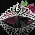 Cute 15 or 16 Birthday Tiara;Silver Crystal Occasion Tiara;Fancy Fashion Hair accessories#1039