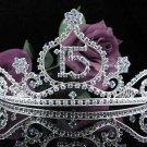 Cute 15 Birthday Tiara;Silver Crystal Occasion Tiara;Fancy Fashion Hair accessories#1036b