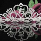 Elegance 15 or 16 Birthday Tiara;Silver Crystal Occasion Tiara;Fancy Fashion Hair accessories#1026