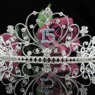 Elegance 15 Birthday Tiara;Silver Crystal Occasion Tiara;Fancy Fashion Hair accessories#1023