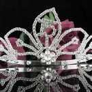 Elegance 15 Birthday Tiara;Silver Crystal Occasion Tiara;Fancy Fashion Hair accessories#1018