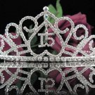 Elegance 15 or  16 Birthday Tiara;Crystal Occasion Tiara;Fancy Fashion Hair accessories#1008