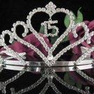Elegance 15 or 16 Birthday Tiara;Crystal Occasion Tiara;Fancy Fashion Hair accessories#1006
