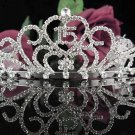 Delicate 15 Birthday Tiara;Crystal Occasion Tiara;Fancy Fashion Hair accessories#1004