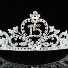 Fancy 15 Birthday Tiara;Occasion Crystal Tiara;Fancy Fashion Hair accessories#1326