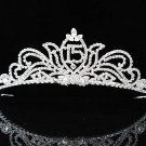 Elegance 15 Birthday Tiara;Occasion Crystal Tiara;Fancy Fashion Hair accessories#1139