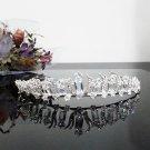 Floral Bridesmaid Tiara;Crystal Silver Pearl Bride headband ;Fancy Fashion Hair accessories #1057