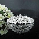 Floral Bridesmaid Tiara;Crystal Alloy Silver Bride Regal ;Fancy Fashion Hair accessories #564S