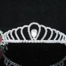 Crystal Silver Bride Headpiece ;Bridesmaid Tiara;Bridal Veil ;Fancy Fashion Hair accessories #SJ50