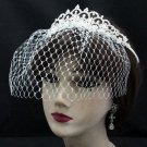 Bridal Veil ;Crystal Silver Pearl Bride Headpiece;Bridesmaid Tiara;Opera Hair accessories #3053s