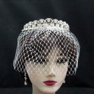 Bridal Veil ;Crystal Silver Bride Headpiece;Bridesmaid Tiara;Opera Hair accessories #163