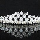 Bridal Veil ;Crystal Silver Bride Headpiece;Bridesmaid Tiara;Opera Hair accessories #1137