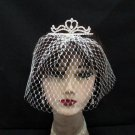 Opera Hair accessories ;Bridal Veil ;Crystal Silver Bride Headpiece;Bridesmaid Tiara#9015