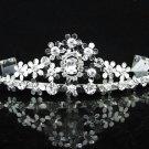 Opera Hair accessories ;Bridal Veil ;Crystal Silver Bride Headpiece;Bridesmaid Tiara#9046