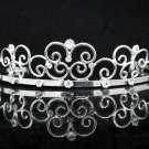 Opera Hair accessories ;Bridal Veil ;Crystal Silver Bride Headpiece;Bridesmaid Tiara#c05