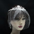 Opera Hair accessories ;Bridal Veil ;Crystal Silver Bride Headpiece;Bridesmaid Tiara#c016