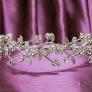 Opera Hair accessories ;Bridal Veil ;Crystal Silver Bride Headpiece;Bridesmaid Tiara#2016