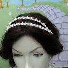 Bridal Veil ;Opera Hair accessories ;Silver Twin Bride Headband;Bridesmaid Tiara#1171s