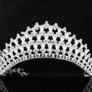 Bridesmaid Tiara ; Bridal Veil ;Opera Hair accessories ;Silver Bride Headpiece#760s