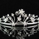 Bridesmaid Tiara;Bridal Veil ;Opera Hair accessories ;Silver Floral Bride Headpiece#682s