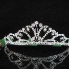 Opera Hair accessories ;Bridesmaid Tiara;Bridal Veil ;Silver Floral Bride Headpiece#8737