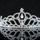 Opera Hair accessories ;Bridesmaid Tiara;Bridal Veil ;Silver Floral Bride Headpiece#8989